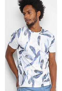 Camiseta Coca Cola Gola Careca Penas Masculina - Masculino