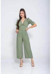 Macacão Closet K Pantacourt Feminino - Feminino-Verde