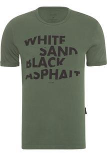 Camiseta Masculina Fine White Sand Classic - Verde