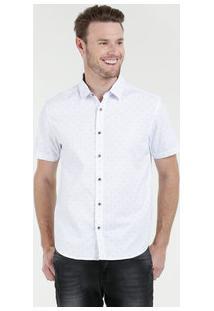 Camisa Masculina Estampada Manga Curta Marisa