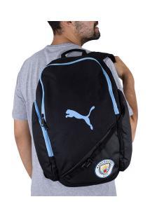 Mochila Manchester City Liga Puma - Preto/Azul