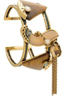 Camila Klein Bracelete De Pedras Naturais - Dourado