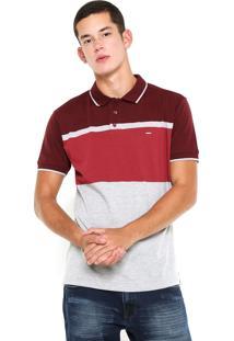 Camisa Polo Dixie Faixas Vinho