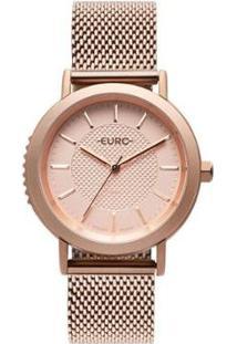 Relógio Euro Strong Woman Spikes Rosé Feminino - Feminino-Rose Gold