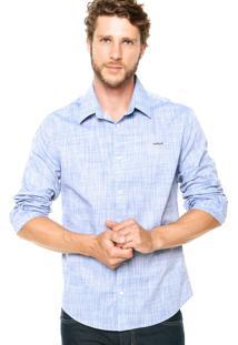 Camisa Colcci Bordado Azul