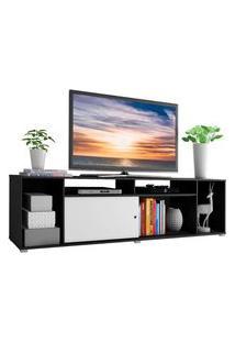 Rack Para Tv Até 65 Polegadas Madesa Cancun - Preto/Branco Preto