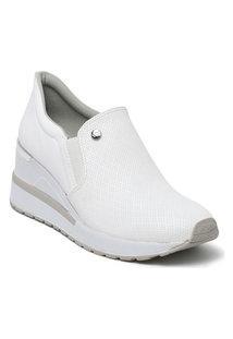 Tênis Feminino Anabela Sneaker Via Marte Slip On 21-1202 Branco