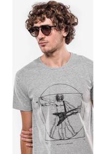 Camiseta Hermoso Compadre Double Guitar Masculina - Masculino-Cinza