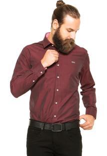 Camisa Mr Kitsch Lk1709 Vinho