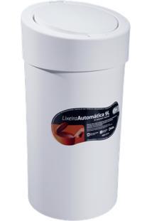 Lixeira Press 20 X 20 X 39,5 Cm 9 L Branco Coza