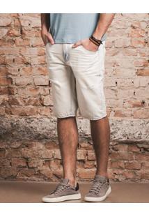 Bermuda Jeans Masculina Slim