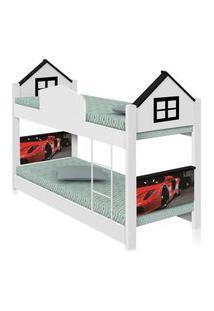 Beliche Infantil Casa Carro Red Com Colchões Casah