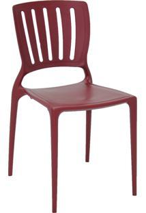 Cadeira Tramontina 92035050 Sofia Vt Encosto Vazado Horizontal Marsala