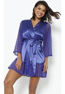 Robe Com Amarração- Azulfruit De La Passion