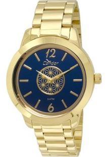 Relógio Condor Feminino Espelhado Geométrico Co2035Kst/4A - Dourado Co2035Kst/4A - Feminino-Dourado