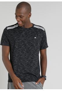 Camiseta Masculina Esportiva Ace Manga Curta Gola Careca Preta