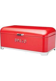 Porta Pão 34X21X25Cm Vermelho Kitchen Craft