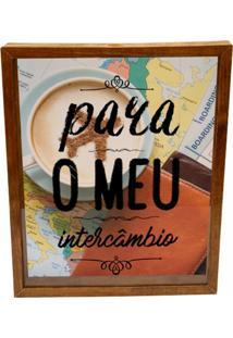 Quadro Decorativo Tabaco Porta Dinheiro Intercã¢Mbio Prolab Gift - Marrom - Dafiti