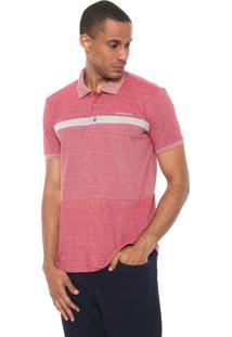 Camisa Calvin Klein Jeans Reta Faixa Vermelha/Cinza