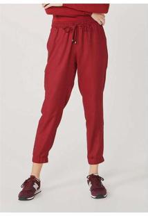 Calça Básica Feminina Jogger Vermelho