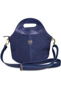 Bolsa Feminina Camurça Artlux - Feminino-Azul
