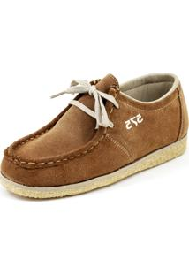 Sapato 575 Camurça Cadarço Caramelo