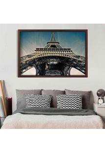 Quadro Love Decor Com Moldura Torre Eiffel Jour Madeira Escura Grande - Multicolorido - Dafiti