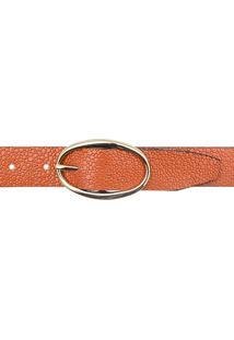 Cinto Feminino Corazzi Leather Deluxe Arraia Perolizado Laranja