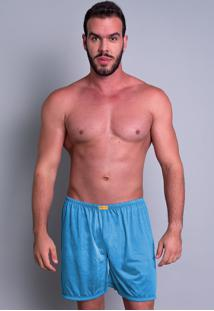Short Curto Mvb Modas Pijama De Dormir Azul Claro