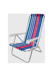 Cadeira Reclinável 4 Posições Alumínio Multicolorido Belfix Azul