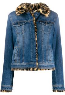 Liu Jo Jaqueta Jeans Com Pele - Azul