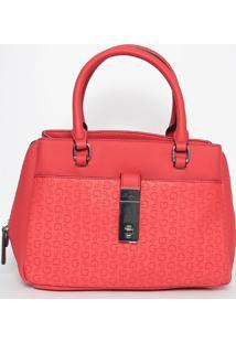 Bolsa Texturizada- Vermelha- 20X31X13Cm- Guessguess