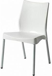 Cadeira Malba Base Fixa Pintada Cinza Cor Branco - 11608 - Sun House