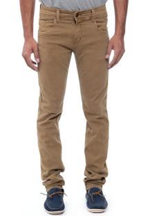 Calça Jeans Sawary Skinny Confort Caramelo