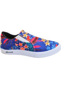 Slip On Sawary Late - Feminino-Azul Royal
