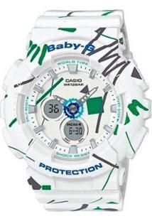 Relogio Casio G-Shock Baby-G Ba 120Sc 7Adr Feminino - Feminino-Branco