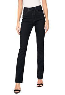 Calça Jeans Calvin Klein Reta Pespontos Preta