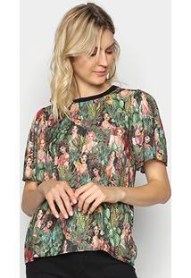 Camiseta Colcci Estampada Feminina - Feminino-Verde
