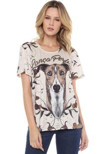 Camiseta Lança Perfume Estampada Bege