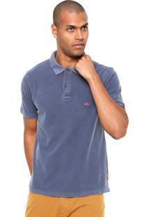 Camisa Polo Quiksilver Rice Azul