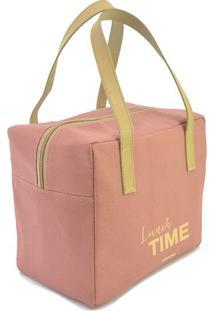 """Bolsa Térmica """"Lunch Time""""- Rosa & Amarelo Claro- 22Boxmania"""