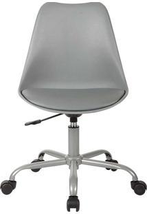 Cadeira Office Rodízio Luisa-Rivatti - Cinza