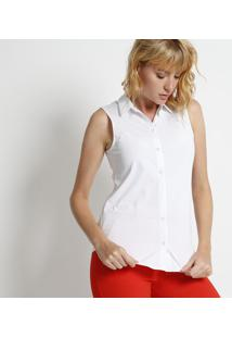 Camisa Lisa - Branca- Intensintens