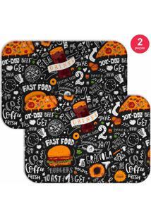 Jogo Americano Love Decor Fast Food Preto - Preto - Dafiti