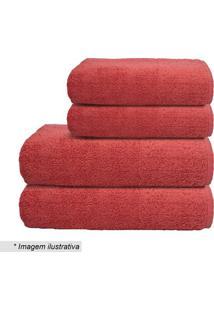 Toalha De Banho Cosmos- Vermelha- 70X140Cm- Camecamesa