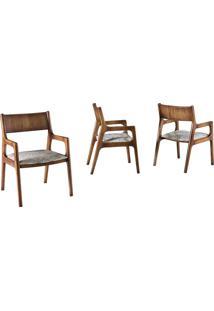 Cadeira Com Braço Passione Madeira Maciça Design Clássico Avi Móveis