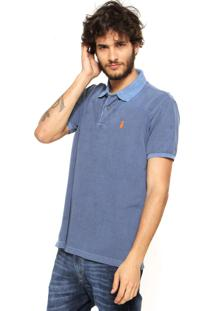 Camisa Polo Pineapple Estonada Azul