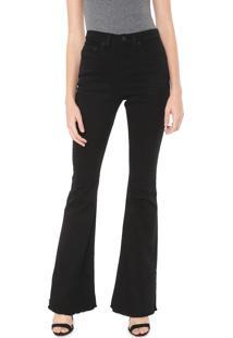 Calça Sarja Calvin Klein Jeans Flare Color Preta