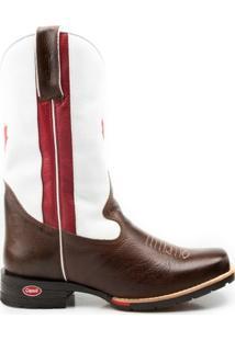 Bota Texana Country Capelli Boots Em Couro Bandeira Canadá Com Bico Quadrado Masculina - Masculino