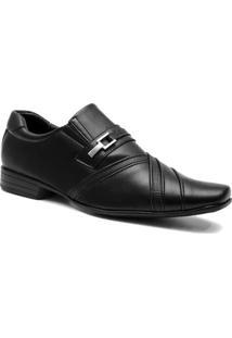 Sapato Social Masculino Salazari Marrom Sola Borracha - Masculino-Preto